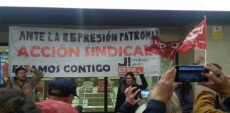 Concentración contra la represión antisindical en Gémini. Foto: La Mayoría