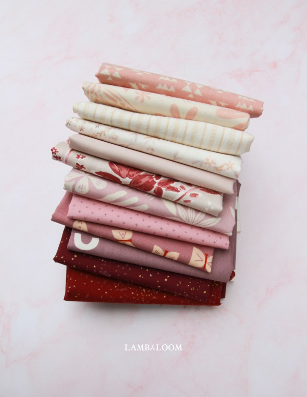 pink moon modern fabric bundle