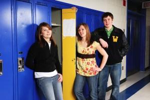 wait - Teenage Students At School Lockers