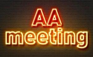 AA Meeting Sign