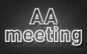 Neon AA Meeting sign