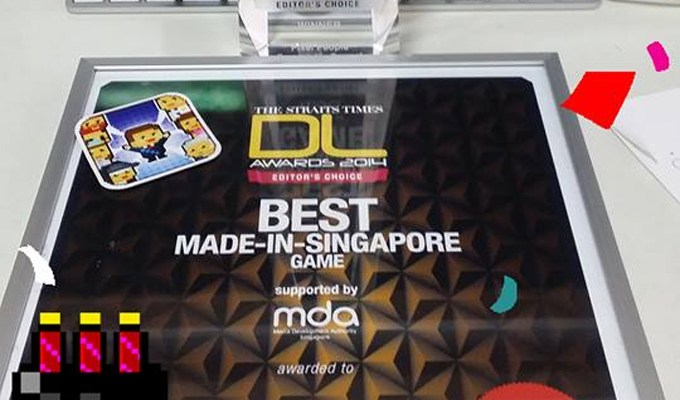Pixel People wins Best Singapore Game 2014!