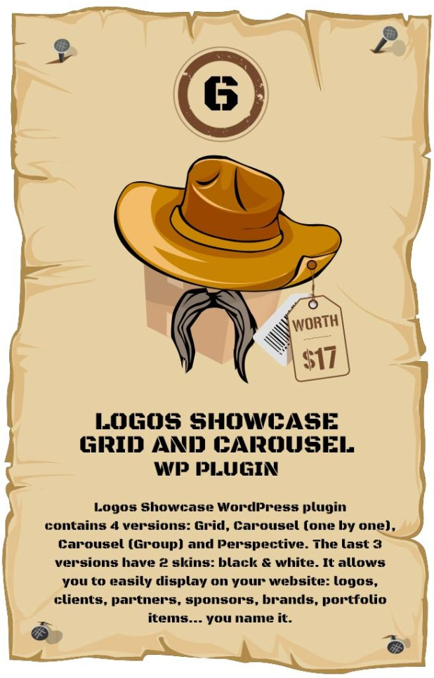 WordPress Logos Showcase - Grid and Carousel