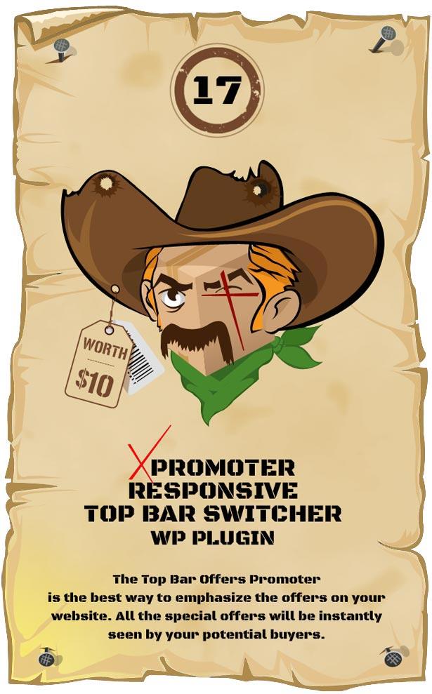 xPromoter - Top Bar Switcher Responsive WordPress Plugin
