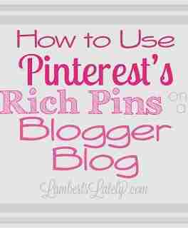 Want to implement Pinterest's new Rich Pins Feature on your blog, but have no idea where to start? This fairly easy tutorial shows you how to put it on Blogger blogs! https://www.lambertslately.com/2013/10/how-to-use-pinterests-rich-pins-on.html