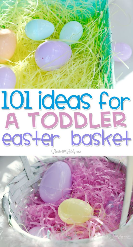 This huge list of ideas for a toddler Easter basket includes unique small gifts for both boys and girls. Find inspiration for cute clothing, simple Easter-themed toys, and even practical items that can be used in the spring or summer!