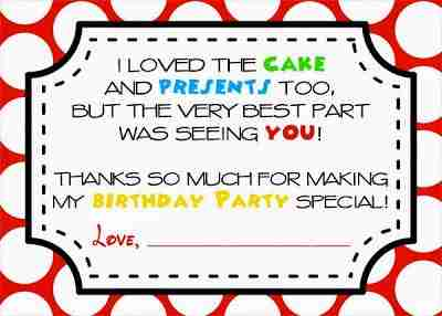 Mickey Mouse Clubhouse Party Free Printables (Thank You Notes)