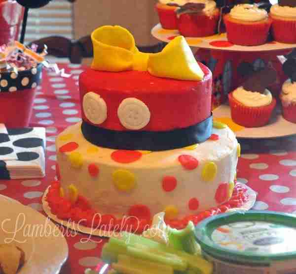 Mickey Mouse Clubhouse Birthday Party Food Table Birthday Cake (Menu Included) || Printable Food Labels Free