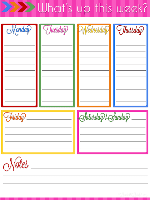 Great resource for weekly, monthly, and daily planner printables...all free! This site also has a great blog planning notebook printable.