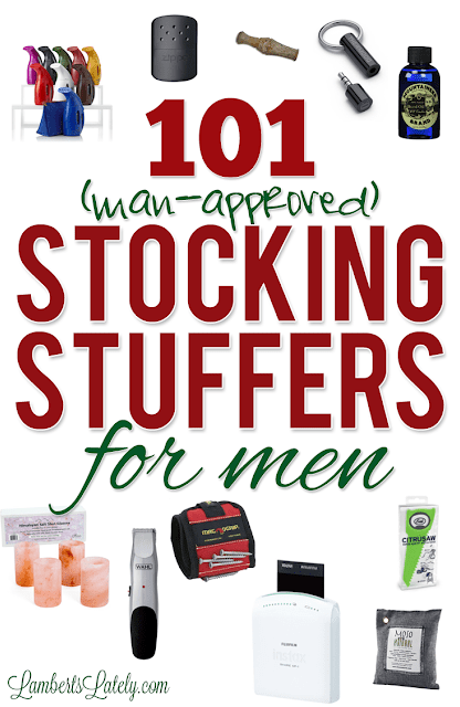 This list of over 100 Christmas stocking stuffer ideas for men covers everything from dads to boyfriends to husbands - lots of useful, unique ideas that guys will love!