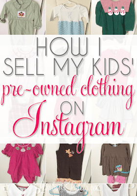 This blogger has great tips and tricks for selling kids' clothes online!  She details how she sets up Instagram, collects money, and ships.  Great post!