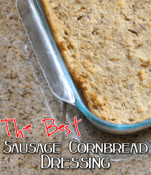 This recipe for The Best Sausage Cornbread Dressing looks amazing!  Awesome Southern dish that I have to save for Thanksgiving or Christmas.  Really easy too!
