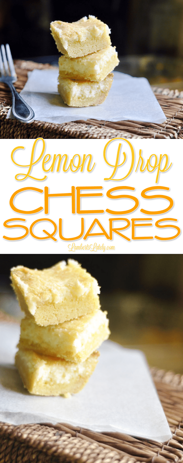 This easy recipe for Lemon Drop Chess Squares uses a from scratch recipe to make the Southern classic. This lemon-flavored chess cake/pie is incredibly rich!