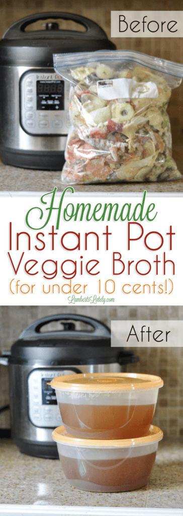 This recipe for Instant Pot vegetable broth goes wonderfully in soup recipes. It's a whole 30/paleo compliant recipe that's incredibly inexpensive and gluten free!