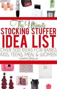 Stocking Stuffer Ideas for men, women, kids, toddlers, and babies...over 900 creative small gift ideas for Christmas! #stockingstuffers #stockingstufferideas #giftideas #smallgiftideas
