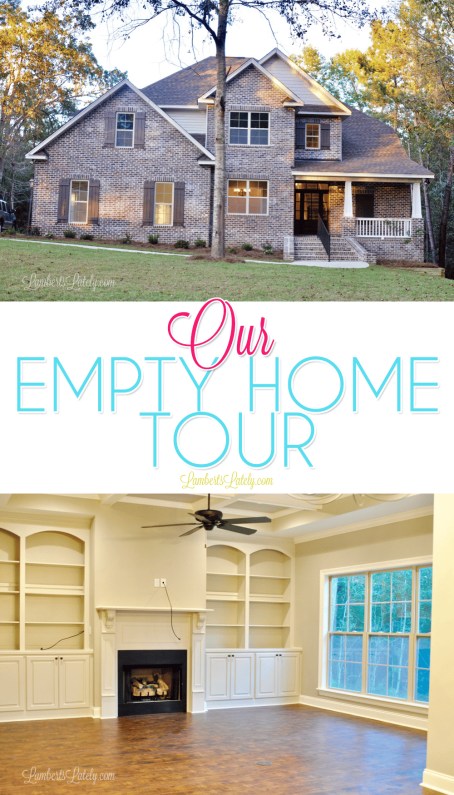 Our Empty Home Tour - great collection of photos from an empty house! Includes kitchen organization and built-in cabinets.