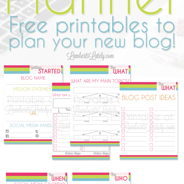 The Ultimate Blog Startup Planner (Free Printables!)