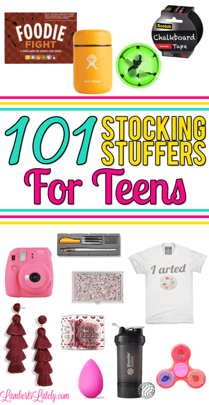 Love this set of stocking stuffer ideas for both boy and girl teenagers!  Includes small - 101 Stocking Stuffers For Teens Lamberts Lately