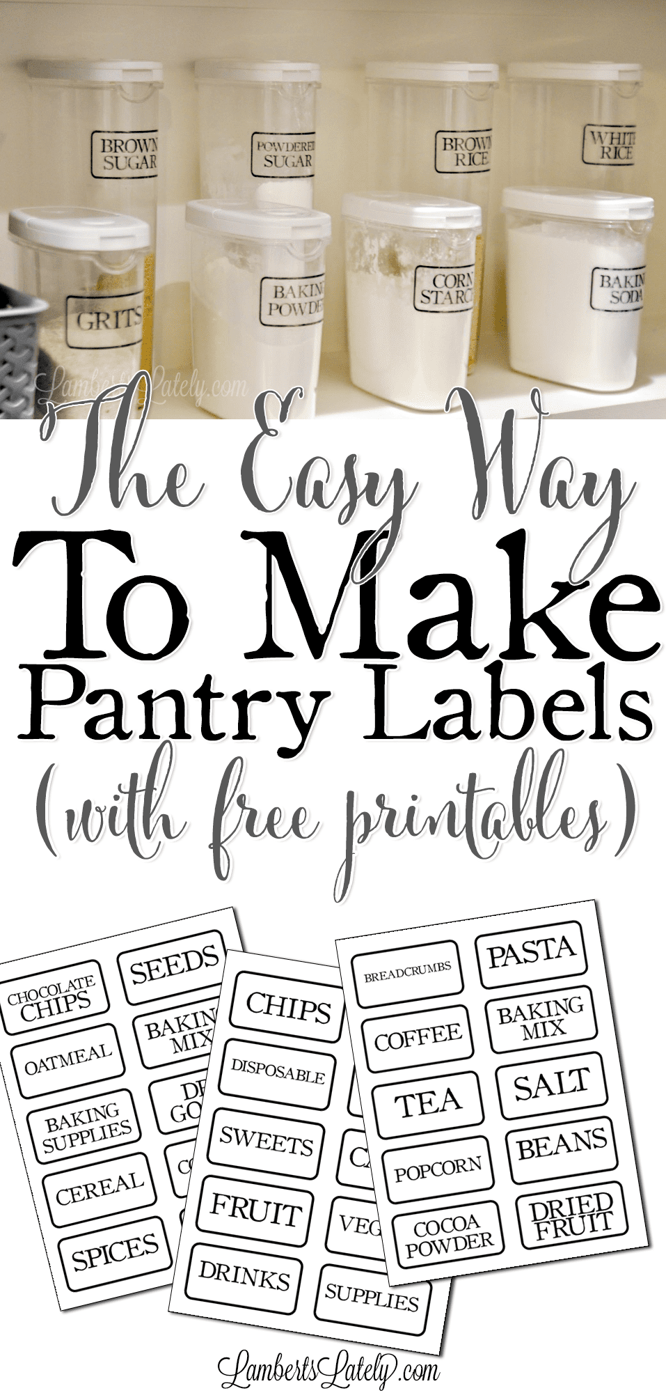 picture relating to Printable Pantry Labels titled The Simple Direction toward Crank out Distinct Pantry Labels (with no cost