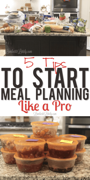 This is a great list of meal planning tips for beginners. Includes printables and how to plan on a family budget!