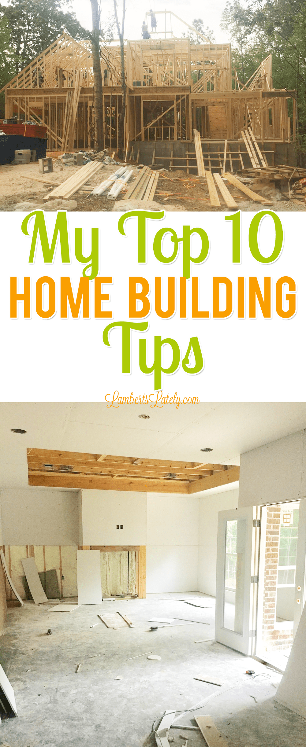 Great home building tips, including ideas for how to manage time and budget...even shares how to prioritize and choose design features. This will help with saving money and sanity throughout the construction process!