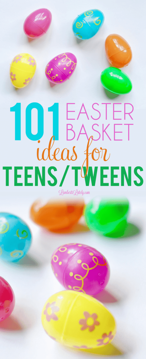 This list of Easter basket stuffer ideas for teens & tweens includes ideas for both boys and girls.  Find unique, funny, and cheap gifts that sons or daughters would love!
