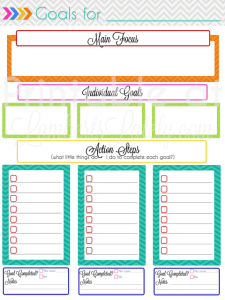 Ultimate Planning Notebook Add-On: Monthly Goal Setting