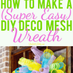 How To Make A Super Easy Diy Deco Mesh Wreath Lamberts Lately