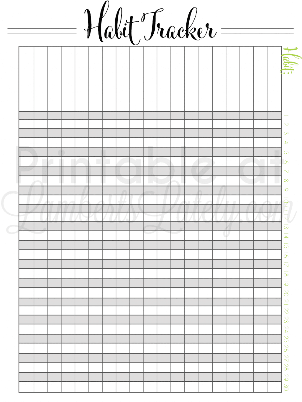 graphic relating to Habit Tracker Free Printable named Saying the Calendar year of Reason - On a yearly basis Month to month Practice
