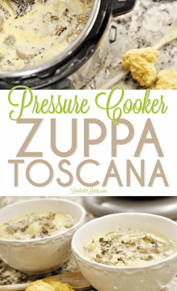 This easy copycat recipe for Pressure Cooker Zuppa Toscana can be made in the Instant Pot and is loaded with big flavors - sausage, bacon, and kale make it delicious!
