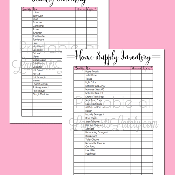 My Secrets For Home Supplies Inventory Management (with free printables)
