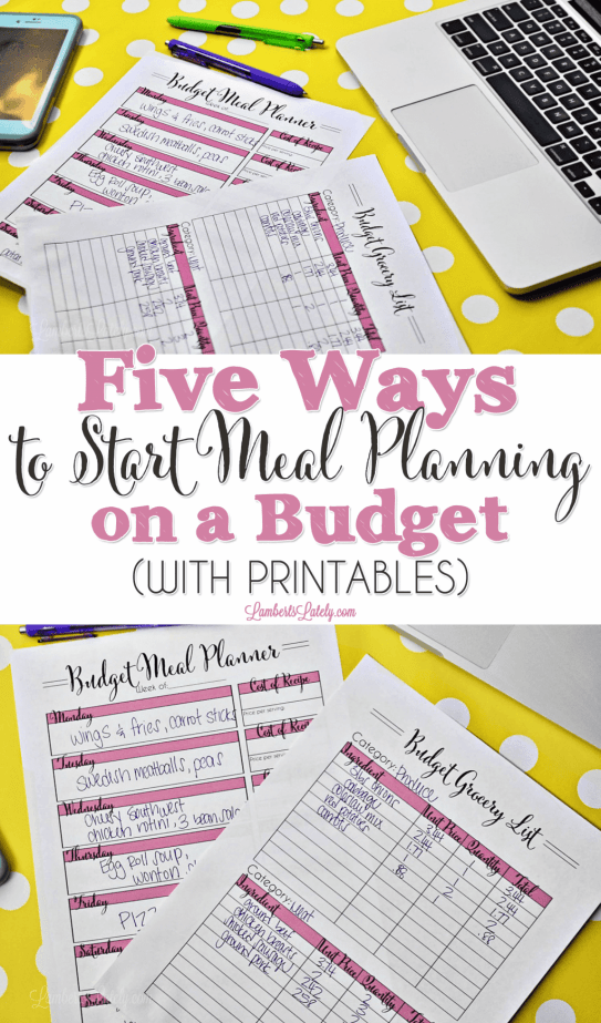 Ready to start meal planning on a budget? This post for beginners shows ideas for how to pick recipes for a family and avoid costs. Even includes free grocery list and meal planner printables!