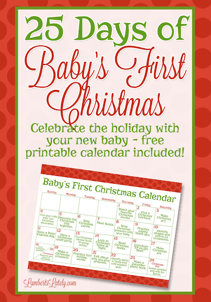 25 Days of Baby's First Christmas Printable