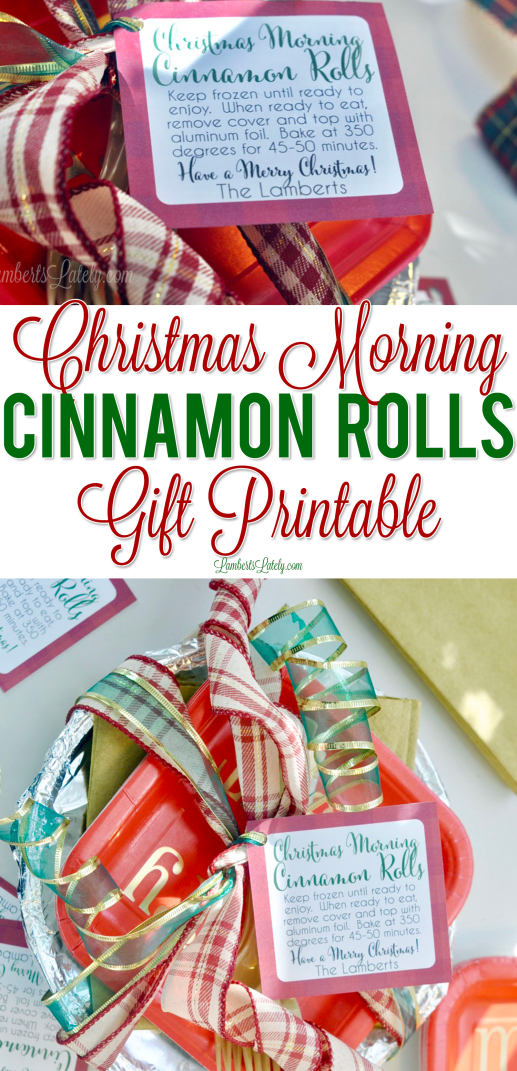 Need a cute, easy neighbor or friend gifts? These Christmas morning cinnamon rolls are perfect! Grab a free printable gift tag and check out cute wrapping/packaging ideas.