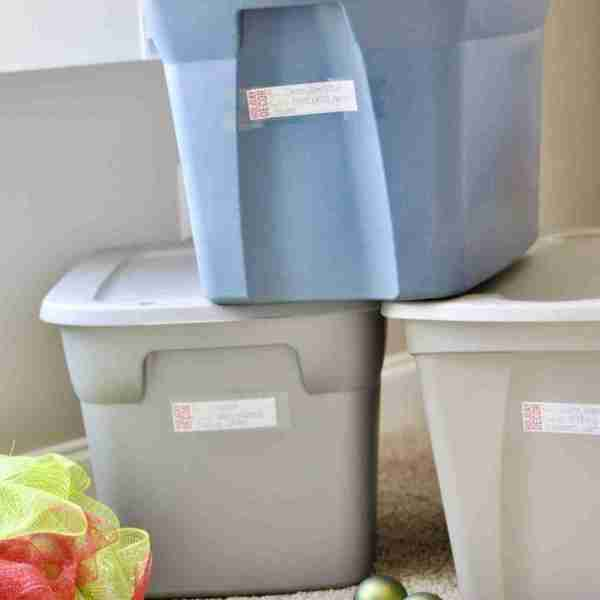 How to Organize Christmas Storage Bins (+ free printable labels!)