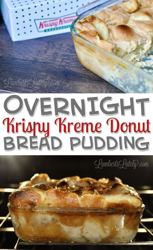 Overnight Krispy Kreme Donut Bread Pudding features leftover donuts baked in a rich custard to make a delicious breakfast or brunch dessert!  This easy recipe puts a homemade twist on classic doughnuts.