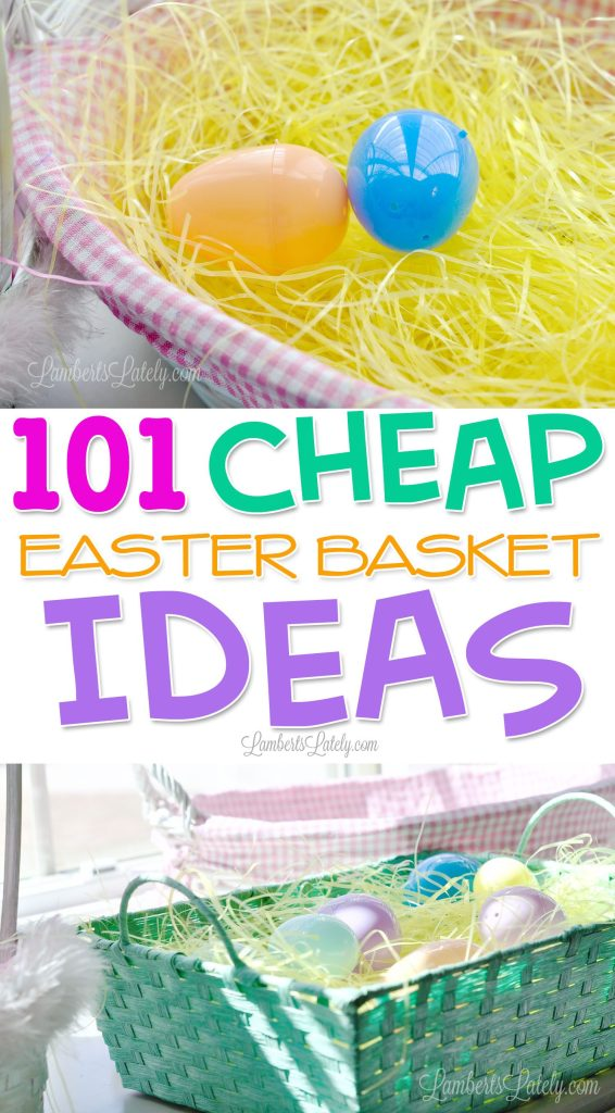 This collection of 101 cheap Easter basket ideas has stuffers for kids, toddlers, teenagers, and adults - great small gifts and fillers for the whole family!