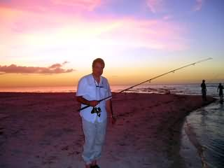 Fishing at the Sandbar in Pelican Bay