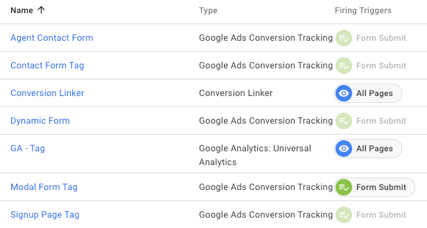 conversion tracking tags