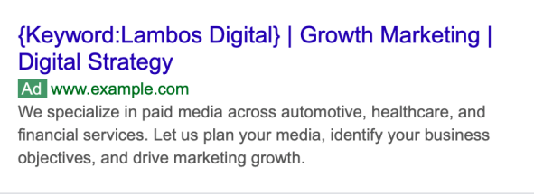google ads keyword insertion