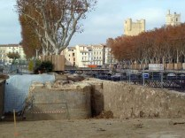 Découverte de vestiges de fortification lors du réaménagement du cours Mirabeau (novembre 2012)