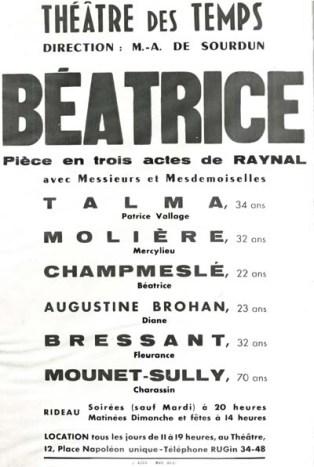 Affiche « imaginaire » d'une pièce inachevée de Paul Raynal avec un certain acteur… Molière (Médiathèque du Grand Narbonne)