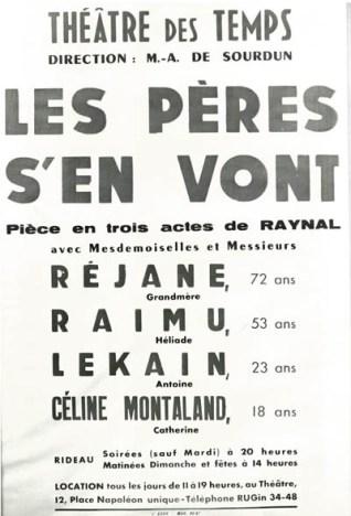 Affiche « imaginaire » d'une pièce inachevée de Paul Raynal avec un acteur célèbre de l'époque : Raimu (Médiathèque du Grand Narbonne).