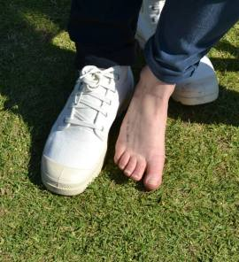 """Put your barefoot forward!"" Photo: Lameez Omarjee"