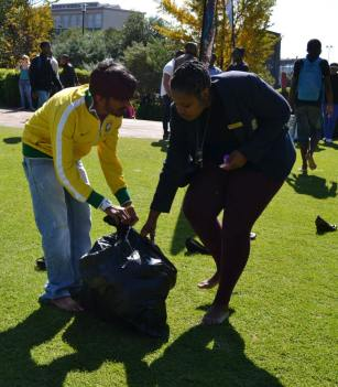 The Wits SRC also collected shoes to donate. Photo: Lameez Omarjee