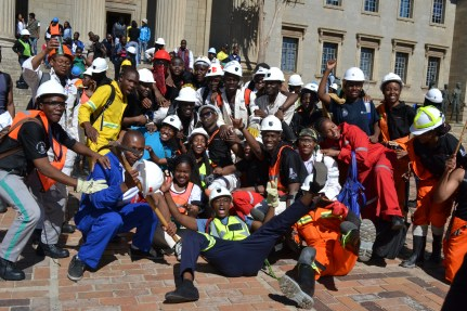 WE WERE HERE: Witsies made their presence known outside the Great Hall. Photo: Lameez Omarjee