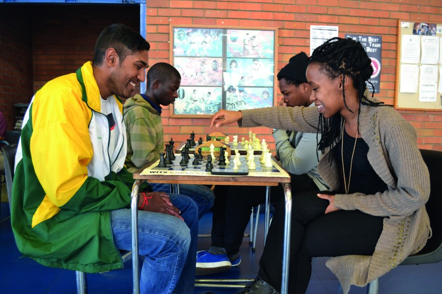 CHECKMATE: Witsie Evasan Chettiar, 2nd year BSc Engineering (left) and Seadimo Tlale, 2nd year Llb (right) will represent South Africa at the World University Chess Championships to be held in Katowice Poland. Photo: Lameez Omarjee
