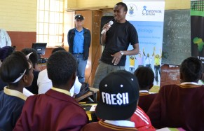 TRANSFORMING CHOICES: Wits masters in developemnt theory students identified a need amongst high-school students in underprivileged communities to host a Career Day at Morris Isaacson Secondary school in Soweto, on Saturday September 6. Photo: Lameez Omarjee