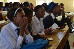 INFORMATICS: Grade 9 and 10 students from high schools in Soweto gathered at Morris Isaacson Secondary school for a Career Day hosted by Wits masters students on Saturday September 6. Photo: Lameez Omarjee