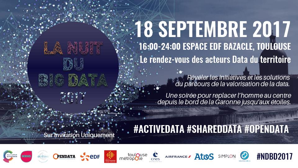 La Nuit du Big Data – 18 septembre 2017 à Toulouse